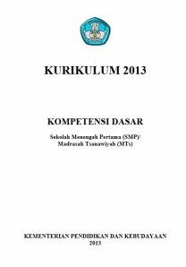 KD kurikulum 2013 untuk SMP dan MTS